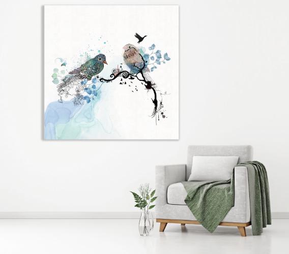תמונת זכוכית • ציפורים