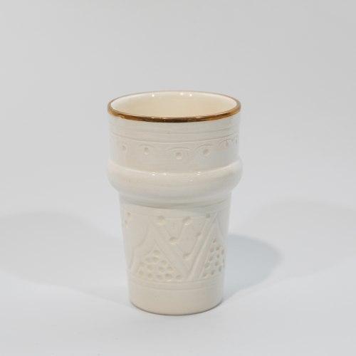 כוס בלנקה עם פס זהב