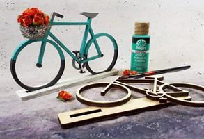 ערכת עץ ליצירה - אופניים