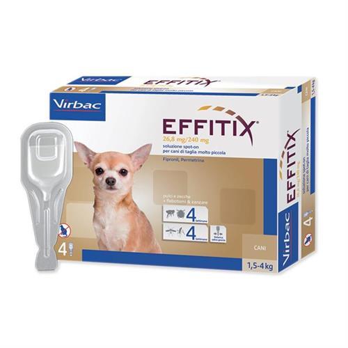 """אפיטיקס טיפות להדברת פרעושים וקרציות בכלבים 1.5-4 ק""""ג  Virbac Effitix"""