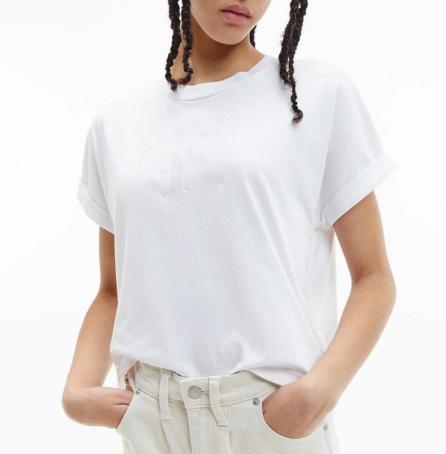 נשים   CALVIN KLEIN DONNA T SHIRT WHITE