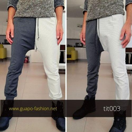 מכנסיים לגברים - חצי חצי | גזרת טיטול מחויטת - משוחררת