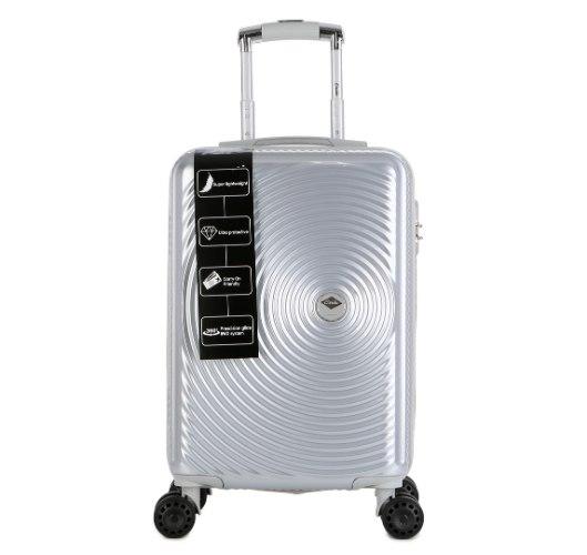 """מזוודה יוקרתית בינונית 24"""" של המותג האוסטרלי Courier - צבע כסוף"""