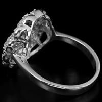 טבעת כסף משובצת זרקונים RG7032 | תכשיטי כסף 925