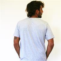 קרנף מכונף חולצת גברים קצרה בצבע אפור מהדורה מוגבלת!