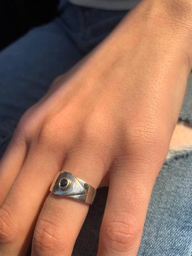 טבעת פרנסיס כסף