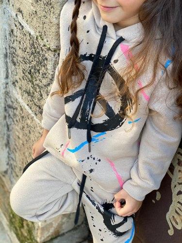 חליפת פוטר peace בצבע קרם MISS KIDS  - מידות 2-18 שנים