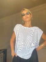 חולצת גופרה - לבן