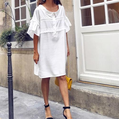 שמלת מנואלה פריזאית - לבנה