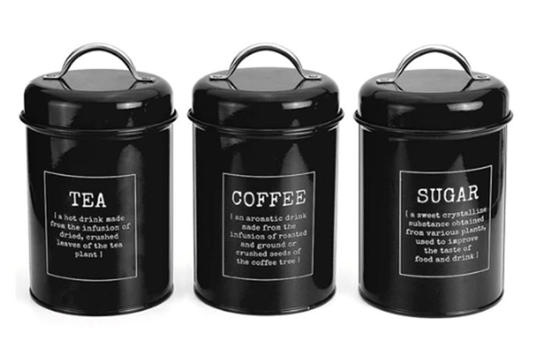 סט אחסון קפה, תה וסוכר