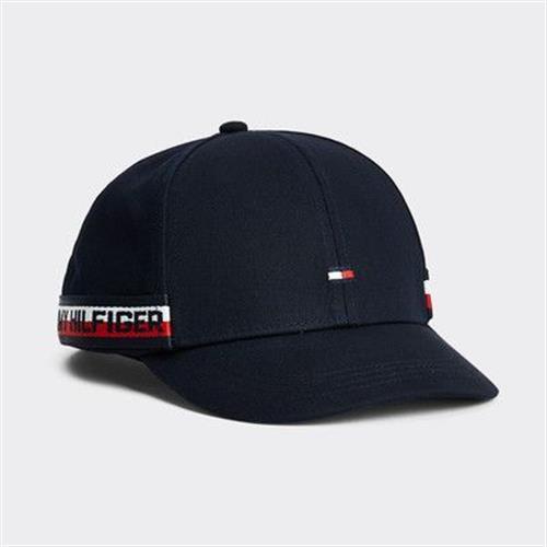 כובע כחול TOMMY HILFIGER פסים בצד