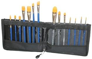 Brush Wallet with Zip EMPTY   מעמד מכחולים עם ריצ'רץ' לאיכסון ושמירה על מכחולים (ריק)
