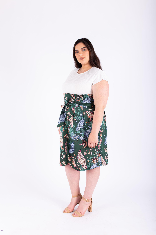 חצאית אודט ירוק פייזלי