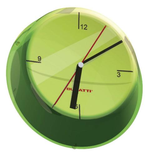 שעון קיר GLAMOUR ירוק