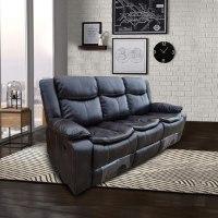 ספה 3 מושבים ג'ק מרלו (עור חום)