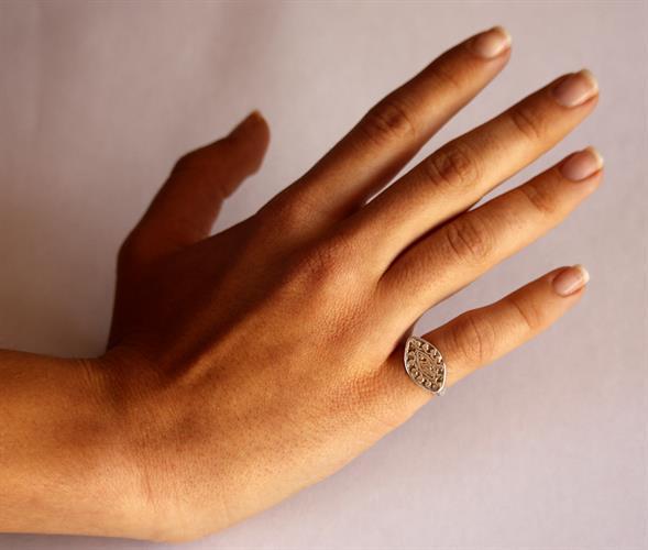 טבעת חותם עתיקה מהתקופה הרומית ביזנטית R118