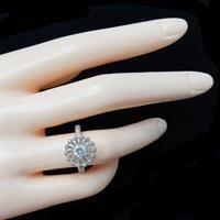 טבעת כסף משובצת אבני זרקון  RG5766 | תכשיטי כסף | טבעות כסף