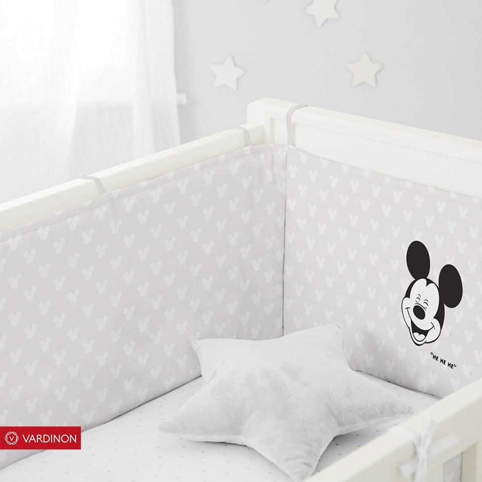 מגן ראש למיטת תינוק מיקי מאוס מבית ורדינון