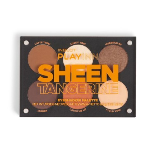 פלטה מגנטית ייחודית המכילה 6 צלליות - PLAYINN Sheen Tangerine