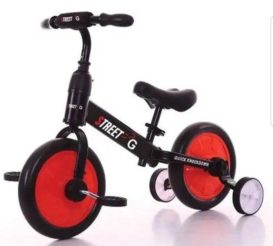 אופני איזון 2 ב-1 עם פדלים וגלגלי עזר נשלפים