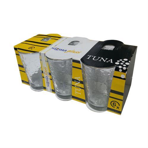 סט 6 כוסות זכוכית- דגם נקודות