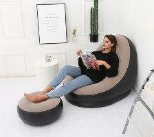 כורסא מתנפחת + הדום + משאבה חשמלית