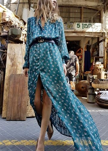 שמלת סופיה פרחוני ירוק