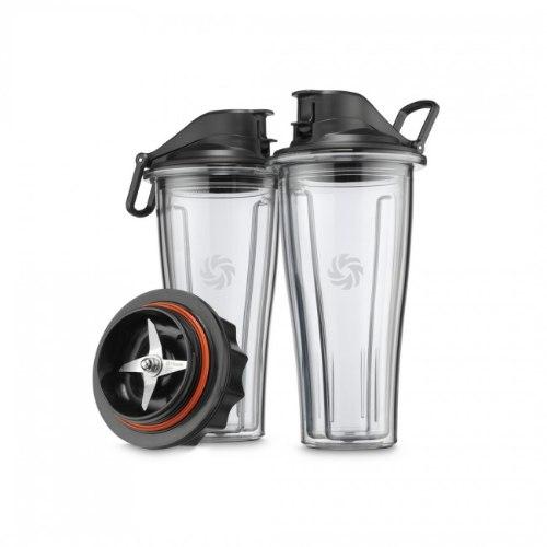 סט 2 כוסות אישיות 0.6 ליטר + בסיס להבים לבלנדר ויטמיקס Vitamix Ascent