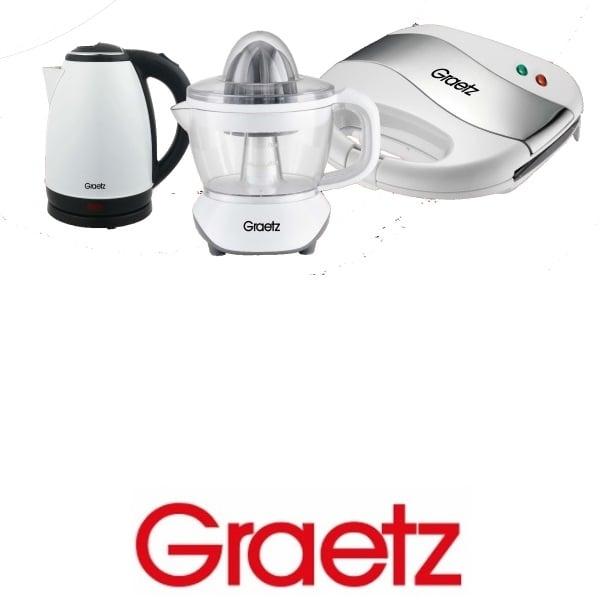 Graetz סט קומקום +מסחטת מיצים +טוסטר לחיצה דגם: GR-769W