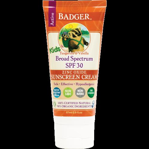 קרם הגנה badger|ילדים ומבוגרים בריח עדין של תפוז 30spf