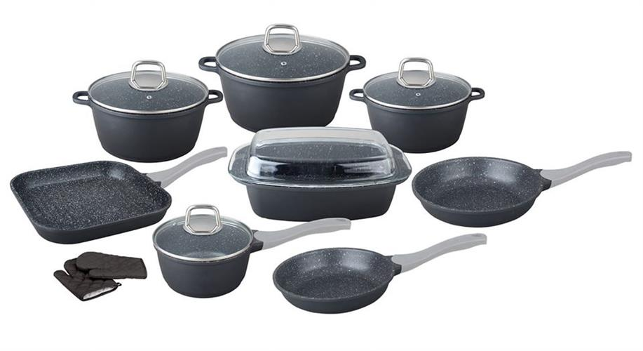 סט 15 חלקים  של נעמן פורצלן מערכת בישול יציקה