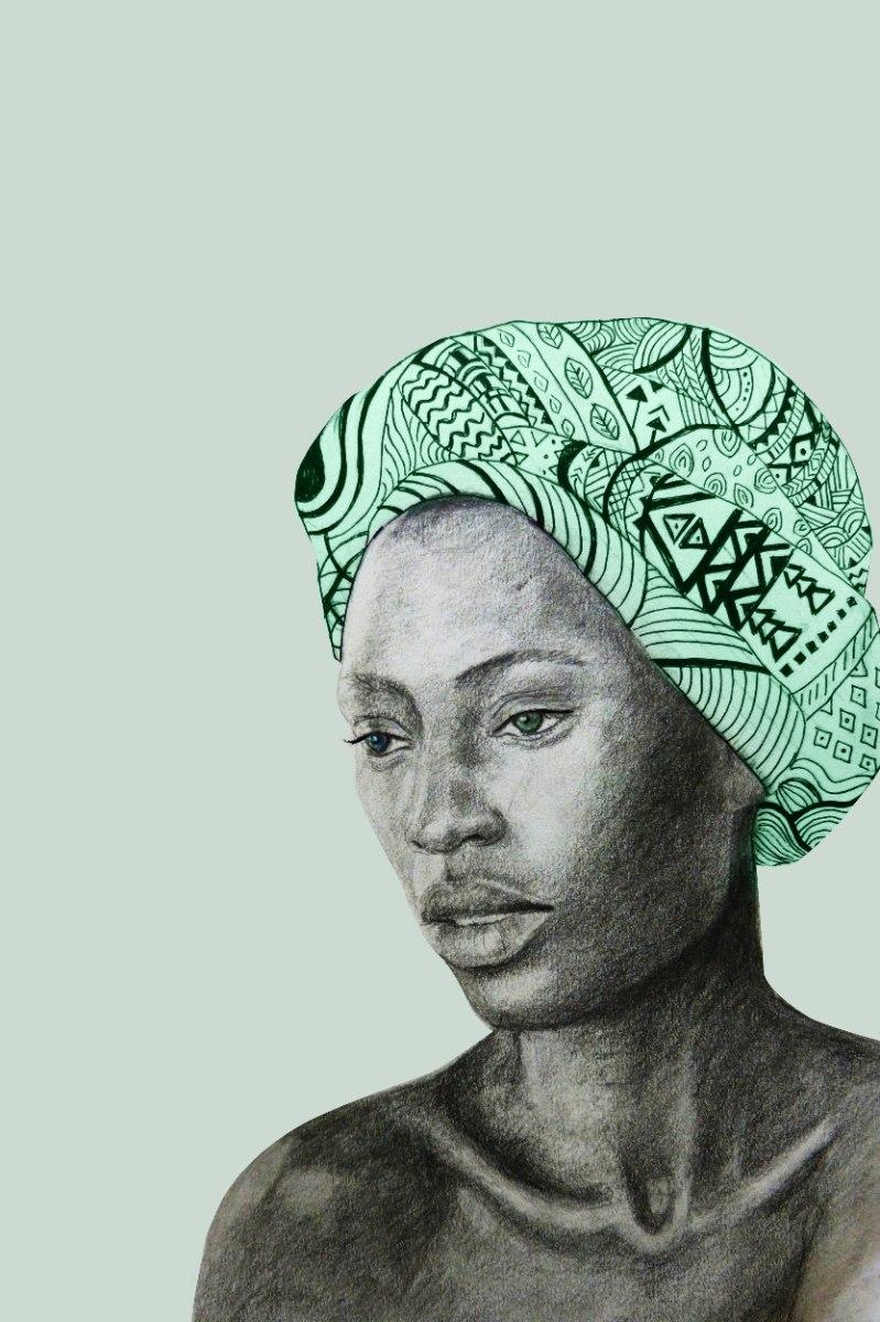 הדפס ציור נייר - אשה גאומטרית