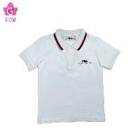 חולצת פולו שרוול קצר בנים לבנה