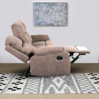 ספה 3 מושבים סיאסטה בד חום