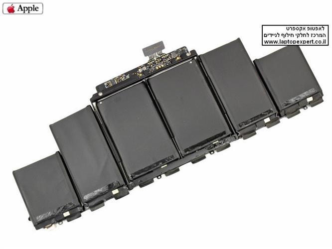 סוללה מקורית למחשב נייד אפל מקבוק רטינה APPLE A1417 BATTERY FOR MACBOOK PRO 15 A1398 2012 2013 RETINA