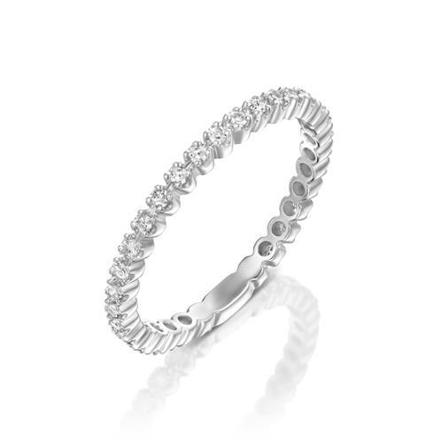 טבעת אור יקרות משובצת יהלומים בזהב צהוב או לבן 14 קראט