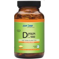 ויטמין D-1000 ויטמין D3 ממקור טבעי ,90 כמוסות ,סופהרב
