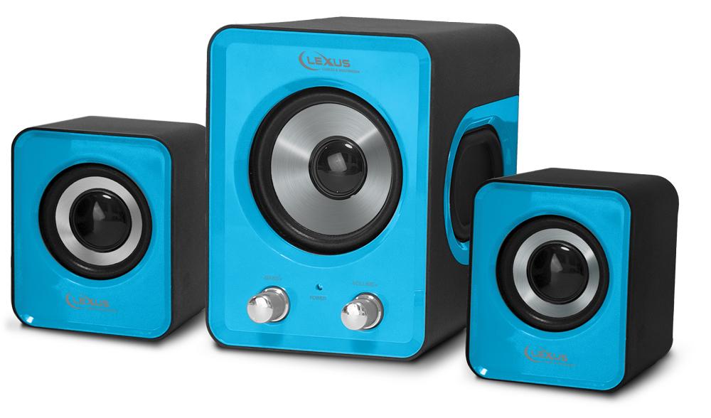 רמקולים למחשב LEXUS XR-55 2.1 USB כחול