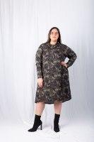 שמלת פריז ריב צבאי ירוק
