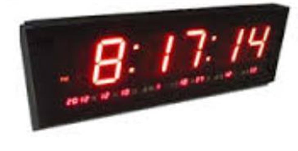 7030 שעון קיר לד חשמלי תצוגה אדומה Pearl