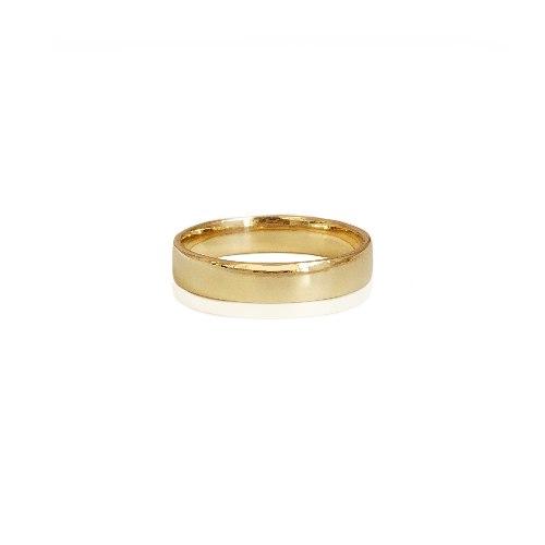 טבעת נישואין קלאסית חלקה 4.6 ממ רוחב