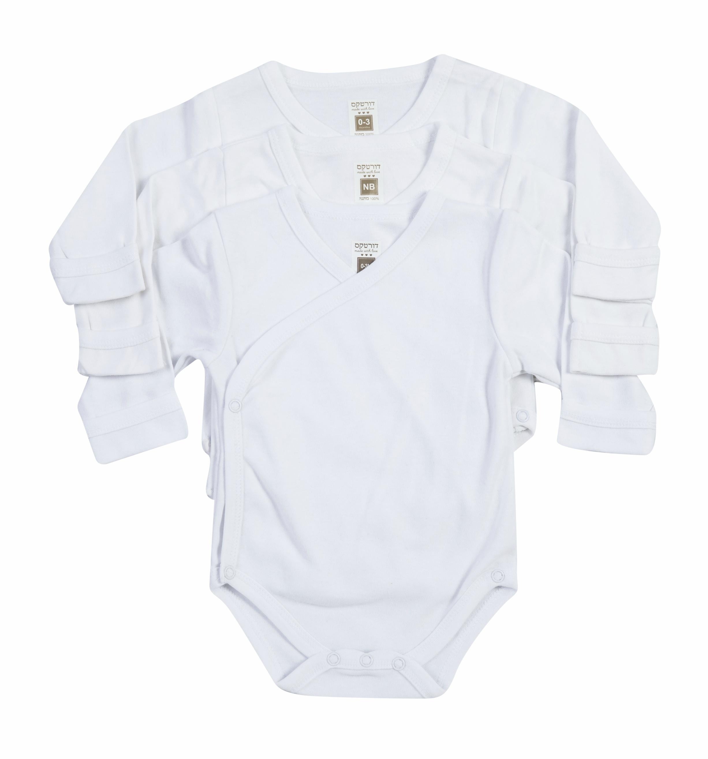 שלישיית בגדי גוף חזייה B-001 לבן