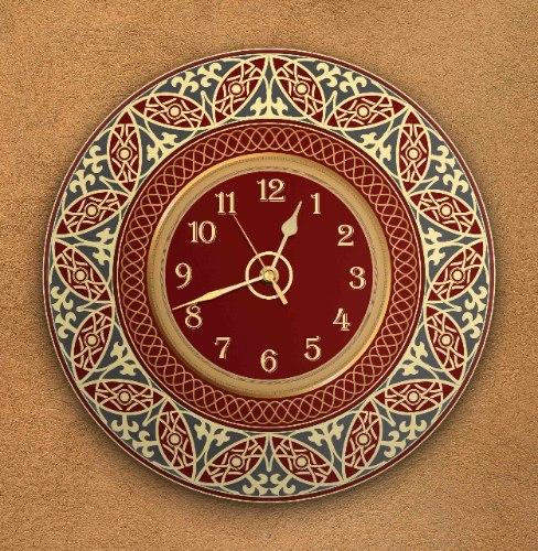 שעון קיר מעוצב, זכוכית אקרילית, דגם 2030  TIVA DESIGN