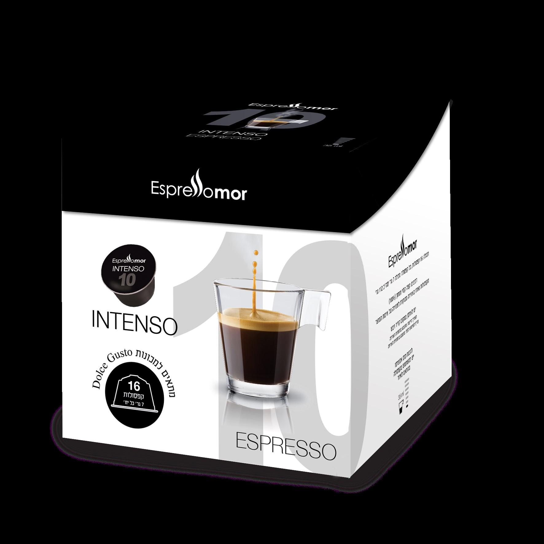 16 קפסולות תואמות דולצה גוסטו Espressomor Intenso Dolce Gusto