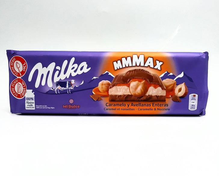 מילקה בטעם מוס קרמל ואגוזים,טבלת שוקולד ענקית!