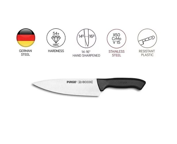 """סכין שף 21 ס""""מ אקו"""