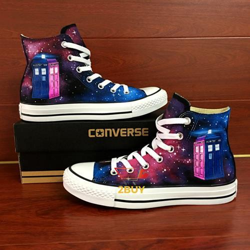 נעלי converse design all star chuck taylor יוניסקס בעיצוב בלעדי (tardis(doctor who במידות 35-49