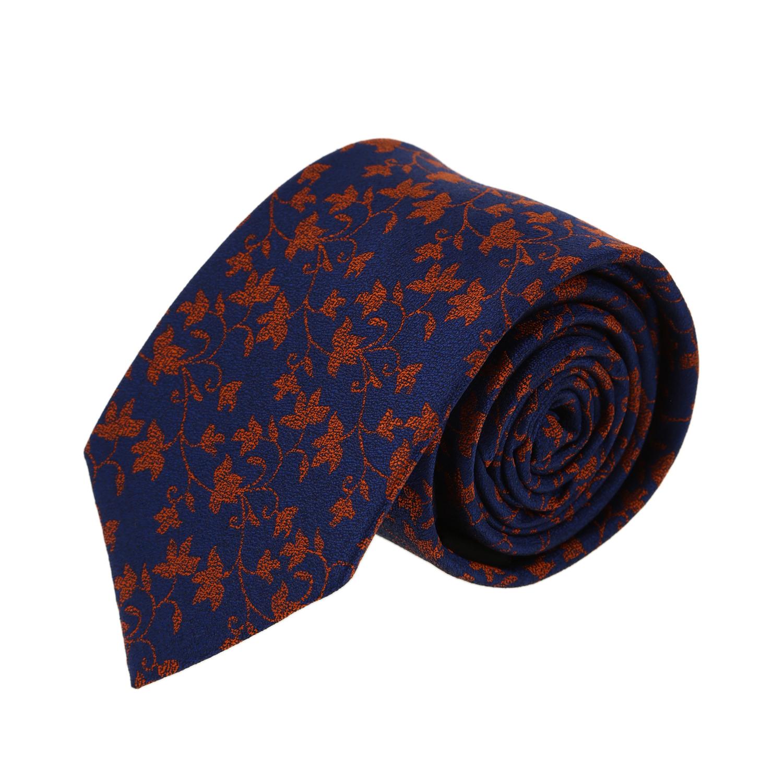 עניבה עלים כתום כחול