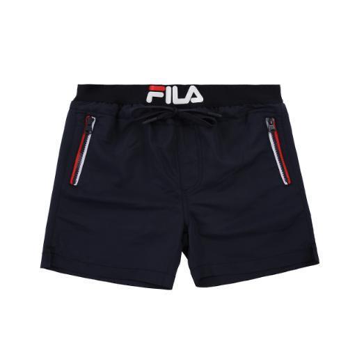 מכנסון בגד ים שחור לוגו רקום - FILA