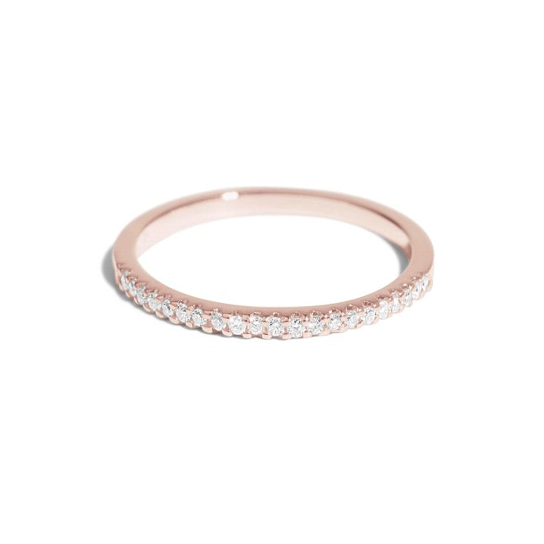 טבעת יהלומים │ טבעת איטרניטי │טבעת נצח │ טבעת מידי משלימה │ זהב 14 קאראט